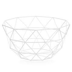 GRAPHIQUE metal bowl in white D 27cm