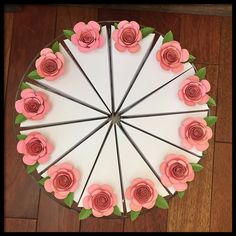 Cake Favor Boxes - Pink Flowers | Paper Pieces by Stacy Unique Handmade Art & Gifts