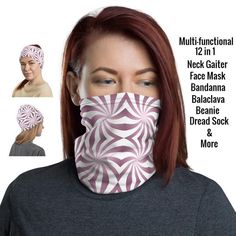 Face Mask Pattern 12 in 1 Multi-functional Face CoverCDC | Etsy Black Neck, Fashion Face Mask, Dreads, Head Wraps, Hair Band, Trending Outfits, Pattern, Happiness, Money