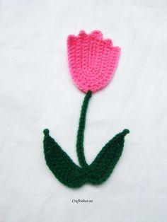 crochet tulip flowers ~ free pattern ༺✿ƬⱤღ✿༻