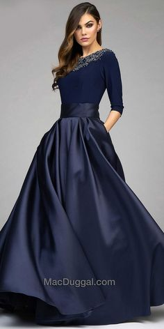 Wide Belted Embellished Ball Gown by Mac Duggal #edressme                                                                                                                                                                                 More