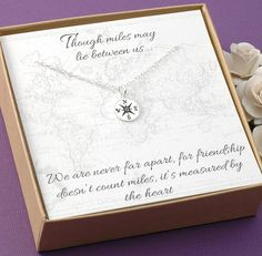 Compass Necklace  Friendship Jewelry BFF by DivineJewelrybyMary, $28.00
