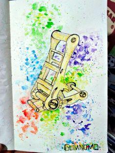 Ilustração .  #slackline #slack #arte #ilustração #guimnomo #cenoracoletivo #mirassol