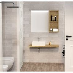 Ideal Standard 2 Piece 600mm Toilet & Basin Unit with Toilet Seat | Wayfair.co.uk Toilet And Basin Unit, Mirror Cabinets, Light Oak, Bathroom Furniture, Countertops, Shelves, It Is Finished, Led, Lighting
