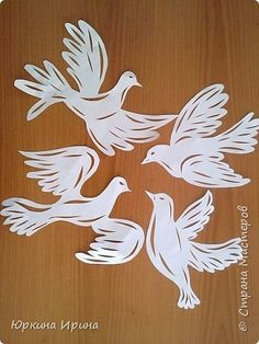Tauben Wood Carving Patterns, Stencil Patterns, Dove Drawing, Aqua Wallpaper, Diy And Crafts, Arts And Crafts, Origami Paper Art, Folk Embroidery, Paper Stars