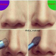 Has tu nariz mucho mas perfilada con este truco ;)