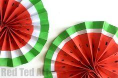 DIY Paper Fan - Melon Fans!