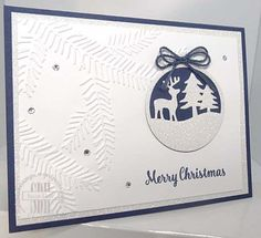 Merry Tags, Pine Bough Embossing Folder