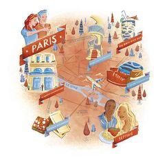 Luke Brookes - Map of Paris for Eurostar Magazine