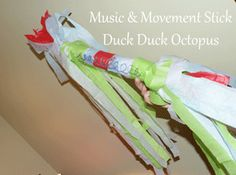 Movement/dancing stick. keyword(s) early childhood, preschool, toddler, kindergarten, home made, movement, music, dancing