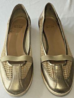 64ddd1615 Size 10 M Stuart Weitzman Shoes Gold Mesh Flats Sneaker Soles Womens  Obsessorize