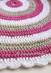 HUVIKUMPU-pyöreä matto, 95 cm | Tuulia design. Iloa & Ideaa askarteluun ja käsitöihin!