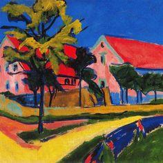 Ernst Ludwig Kirchner (1880 -1938) Terwijl op dat moment elders in Europa het Fauvisme - de Franse vorm van het Expressionisme - en het Kubisme hun intrede deden, verenigde zich in 1905 in Dresden een groepje jonge, autodidactische kunstenaars onder de naam Die Brücke.