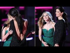 Sandra Bullock Kisses Scarlett Johansson | Sandy the best actress an...