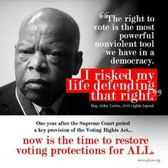 Civil Rights Champion Rep John Lewis Has Spent His Life Fighting For Our Right To Vote John Lewis Quotes, Right To Vote, Fight For Us, Greater Good, Political Views, Truth Hurts, African American History, Civil Rights, Social Justice
