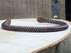 Twisted Copper Bracelet by NurturedWorks on Etsy https://www.etsy.com/listing/476335010/twisted-copper-bracelet