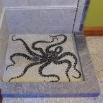 I could deal with a tiny shower if it had a cool octopus tile pattern.