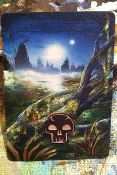"""Simple mana cards become works of art. 