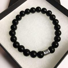 Virgo Bracelet Black Obsidian Bead