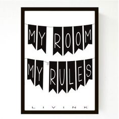 50 x 70 Cm - My Room - Tilbud - Spar 200,-