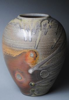 Clay Vase Wood Fired L31 by JohnMcCoyPottery on Etsy, $140.00. www.etsy.com/shop/JohnMcCoyPottery