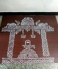 Rangoli Designs Images, Rangoli Designs With Dots, Rangoli With Dots, Beautiful Rangoli Designs, Simple Rangoli, Kolam Rangoli, Flower Rangoli, Hobbies And Crafts, Arts And Crafts