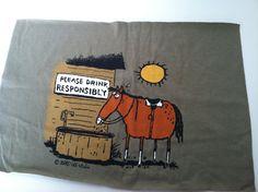 T Shirt Logo  Cowboy Drink Responsibly by IdleHandsYarnSupply, $1.50