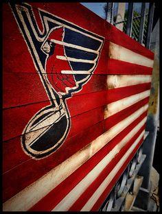 Sports Flags, Wooden Flag, St Louis Cardinals, Porsche Logo, Wood Crafts, Blues, My Etsy Shop, Rustic, Logos
