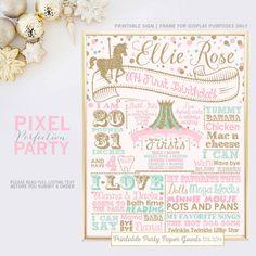 Carousel Birthday Birthday Poster Carousel by PixelPerfectionParty