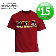 Fraternity $15 Sewn-On Twill Letter T-Shirt - SALE ends 8/31/14! #fraternity #clothing #greek #gear