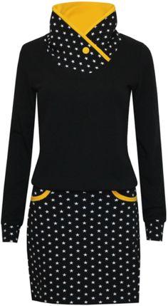 Sweatkleid Sternenmädchen - New Ideas Sewing Clothes, Diy Clothes, Sweat Dress, Hooded Dress, Thrift Fashion, Sweatshirt Dress, Refashion, Plus Size Dresses, Dress Skirt