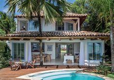 Dream beach house in brazil home / design / architecture Tropical Beach Houses, Dream Beach Houses, Beach Cottage Style, Beach House Decor, Coastal Style, Tropical Style, Style At Home, Beach Cottages, Home Fashion