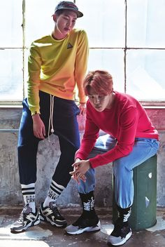"""[HQ] BTS Rap Monster & Jimin for 1st Look Korea Vol.95 1339x2000 """