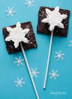 S'mores Pops - A fabulous winter treat whether you want to make them as favors or just have fun making them with the kids.