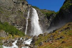 Kjosfossen is an awesomely beautiful waterfall located in Aurland, Sogn og…