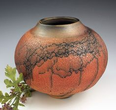 Horsehair Crackle Pot by David Gordon: Ceramic Vase available at www.artfulhome.com
