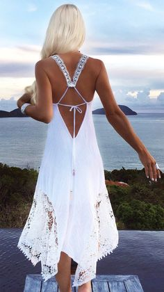 Love this - lace up maxi