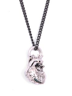 Anatomical Heart Necklace by Lost Apostle #InkedShop #necklace #jewelry #heart #style #fashion