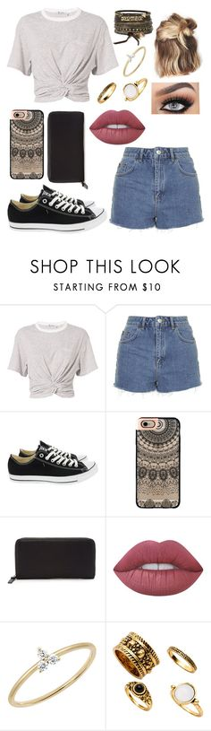 """""""Untitled #331"""" by savina-luna ❤ liked on Polyvore featuring T By Alexander Wang, Topshop, Converse, Kristin Ess, Casetify, Forever 21, Lime Crime, EF Collection and BKE"""