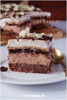 Ciasto Kubanka - I Love Bake Tiramisu, Party Time, Deserts, Good Food, Dessert Recipes, Food And Drink, Nutella, Sweets, Snacks
