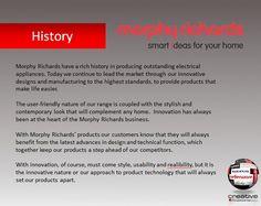 Morphy Richards History Electrical Appliances, High Standards, Innovation Design, Marketing, History, Life, House Appliances, Historia, Electronic Devices