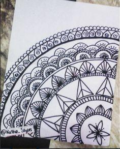 mandalas Mandala Doodle, Mandala Drawing, Doodle Art, Wall Drawing, Painting & Drawing, Dibujos Zentangle Art, Zentangle Patterns, Zentangles, Pen Art