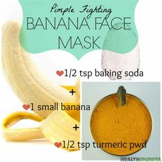 This easy banana face mask with turmeric and baking soda can help you get glowing skin and reduce pimples as well as blemishes. Stay acne free with regular pimple fighting banana face mask application.