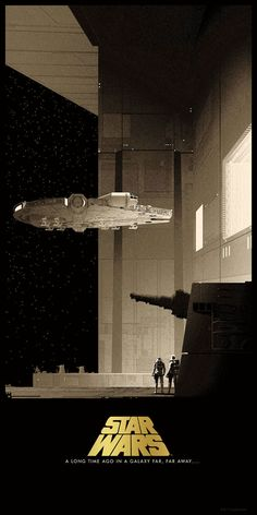 Star Wars Posters by Matt Ferguson Limited edition run of officially licensed series of Star Wars posters, created by artist Matt Ferguson. The 12 x 24 inches minimalist Star Wars posters, will be on sale at Bottleneck Gallery… Star Wars Fan Art, Star Wars Film, Nave Star Wars, Star Wars Concept Art, Star Wars Poster, Images Star Wars, Star Wars Painting, Star Wars Models, Ralph Mcquarrie