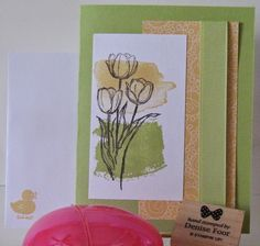 Blessed Easter | Denise Foor Studio PA  Quick and Easy Cards for Classes at the local Senior Center Stampin' Up!