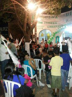 Inauguración de casa de campaña en Camiri.