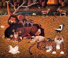 Form is emptiness, emptiness is form: Charles Wysocki (II) Detroit, Acorn And Oak, Puzzle Art, Watercolour Painting, Cattle, Lions, Rooster, Folk, Artwork