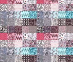 wonderland tiles in patcwork cheater quilt fabric by katarina on Spoonflower - custom fabric