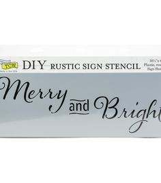or Embellish for Artwork or Signs Hampton Art 12 x 12 Rustic Framed Acrylic to Paint Stencil