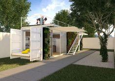 Casa Container Mobiliada - pronta entrega